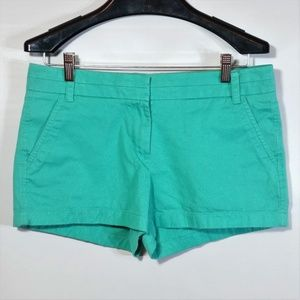 J.Crew Chino Flat Front Shorts Mint Green Casual